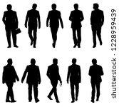 set silhouette businessman man... | Shutterstock .eps vector #1228959439