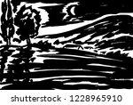 meadows in the moonlight shadows | Shutterstock . vector #1228965910