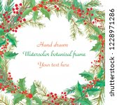 watercolor decorative christmas ... | Shutterstock . vector #1228971286