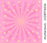 pink background with sunbeams ... | Shutterstock .eps vector #1228976026