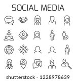 social media related vector... | Shutterstock .eps vector #1228978639