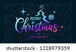 merry christmas message... | Shutterstock .eps vector #1228979359