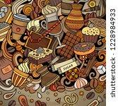 cartoon vector doodles coffee...   Shutterstock .eps vector #1228984933