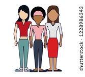 female friends avatar   Shutterstock .eps vector #1228986343