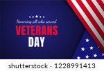 veterans day greeting card with ... | Shutterstock . vector #1228991413