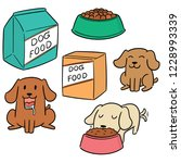vector set of dog food | Shutterstock .eps vector #1228993339