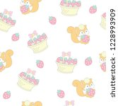 seamless pattern with adorable...   Shutterstock .eps vector #1228993909