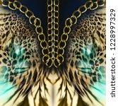 Chains Leopard Background - Fine Art prints