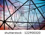 power tower in the sky... | Shutterstock . vector #122900320