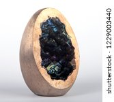 Small photo of Bismuth geode. Closeup.