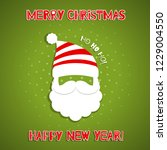 christmas background with santa ... | Shutterstock .eps vector #1229004550