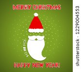 christmas background with santa ... | Shutterstock .eps vector #1229004553