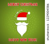 christmas background with santa ... | Shutterstock .eps vector #1229004586