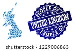 people composition of blue... | Shutterstock .eps vector #1229006863