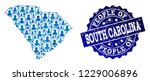 people collage of blue... | Shutterstock .eps vector #1229006896