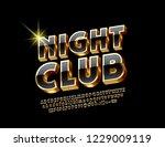 elegant set of black and golden ... | Shutterstock .eps vector #1229009119