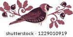 decoration birds on branches | Shutterstock .eps vector #1229010919