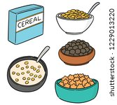 vector set of cereal | Shutterstock .eps vector #1229013220
