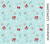 christmas and new year pattern... | Shutterstock . vector #1229013493