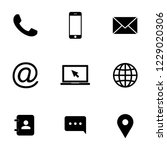 contact icons. web icon set | Shutterstock .eps vector #1229020306