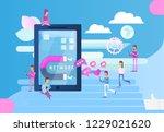 social networking concept  ... | Shutterstock .eps vector #1229021620