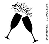 champagne celebration icon.... | Shutterstock .eps vector #1229025196