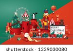 christmas greetings template... | Shutterstock .eps vector #1229030080
