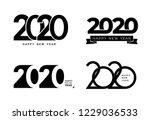 big set of 2020 text design... | Shutterstock .eps vector #1229036533