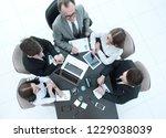 top view.business team working... | Shutterstock . vector #1229038039