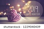 new year 2019 message with a... | Shutterstock . vector #1229040439