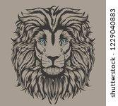 lion animal illustration  hand... | Shutterstock .eps vector #1229040883
