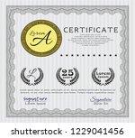 grey certificate diploma or...   Shutterstock .eps vector #1229041456