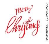 merry christmas vector text... | Shutterstock .eps vector #1229042920