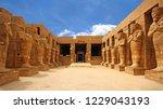 anscient temple of karnak in... | Shutterstock . vector #1229043193