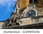 a statue of king charles ii on... | Shutterstock . vector #1229045236