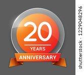 20   twenty years anniversary...   Shutterstock .eps vector #1229048296