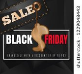 black friday sale. grand sale... | Shutterstock .eps vector #1229048443
