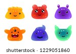 cute funny colorful jelly...