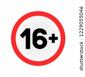 adults only sign symbol icon on ... | Shutterstock .eps vector #1229055046