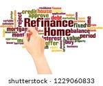 home refinance word cloud hand... | Shutterstock . vector #1229060833