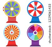 wheel of fortune  set of wheel... | Shutterstock .eps vector #1229061433