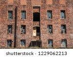 old derelict brick industrial... | Shutterstock . vector #1229062213