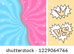 bright pink blue striped on... | Shutterstock .eps vector #1229064766