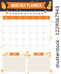 autumn monthly planner and to... | Shutterstock .eps vector #1229067943