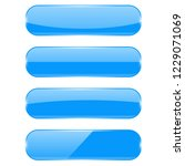 blue glass buttons. 3d... | Shutterstock . vector #1229071069