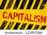 warning sign capitalism | Shutterstock .eps vector #122907286