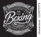 athletic boxing typography  tee ... | Shutterstock .eps vector #1229075773