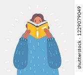 vector cartoon illustration of... | Shutterstock .eps vector #1229079049