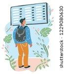 vector cartoon illustration of... | Shutterstock .eps vector #1229080630