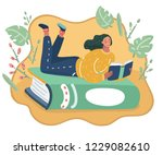 vector cartoon illustration of... | Shutterstock .eps vector #1229082610